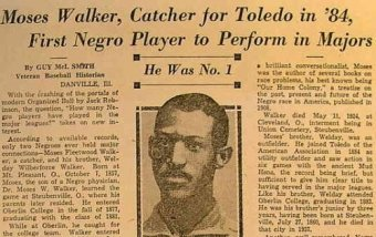 First African American in Professional Baseball